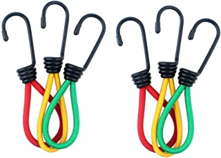 Haidong 6Pcs Outdoor Camping Tents Bungee Cord Elastic Rope Fixed Strap with Wide Opening Hooks for Camping Hiking Trunks Luggage Racks Clothes Hanger