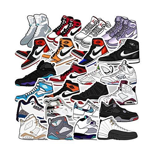 Equipaje Zapatos Deportivos Zapatillas de Deporte Estilo explosión Graffiti Pegatinas Impermeables Carrito de Equipaje Pegatinas Personalizadas 50PCS