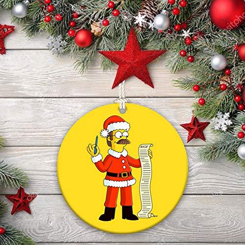Ceramic Ornaments Homer Simpson, Santa, Abraham Simpson, Mona Simpson, Herbert Powell, Abbie Simpson, The Simpsons character, gift, cartoon