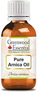 Greenwood Essential Pure Arnica Oil (Arnica Montana) Premium Therapeutic Grade for Hair, Skin & Aromatherap...