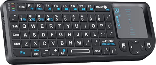 Rii 2.4G Mini Wireless Keyboard with Touchpad Mouse,Lightweight Portable Wireless..