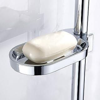 Comficent Estantería de Baño Ducha con Ganchos Estante De Baño Ajustable para Jabón Guarda Acero Inoxidable