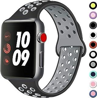 Vancle コンパチブル Apple Watch バンド 38mm 42mm 40mm 44mm シリコンバンド アップルウォッチバンド 柔らかスポーツ 交換ベルト iWatch Series 5/4/3/2/1に対応 (38mm/40mm-...