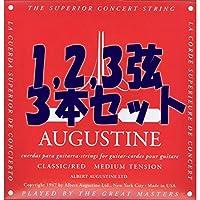 【国内正規品】バラ弦 AUGUSTINE オーガスティン クラシックギター弦 RED MEDIUM TENSION 1,2,3弦(E,B,G)