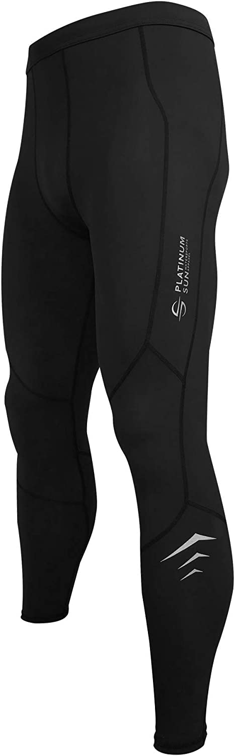 Men's Swim Compression Leggings | Dive Skins Surf Tights Water Pants | Quick Dry Base Layer Running Workout UPF 50+