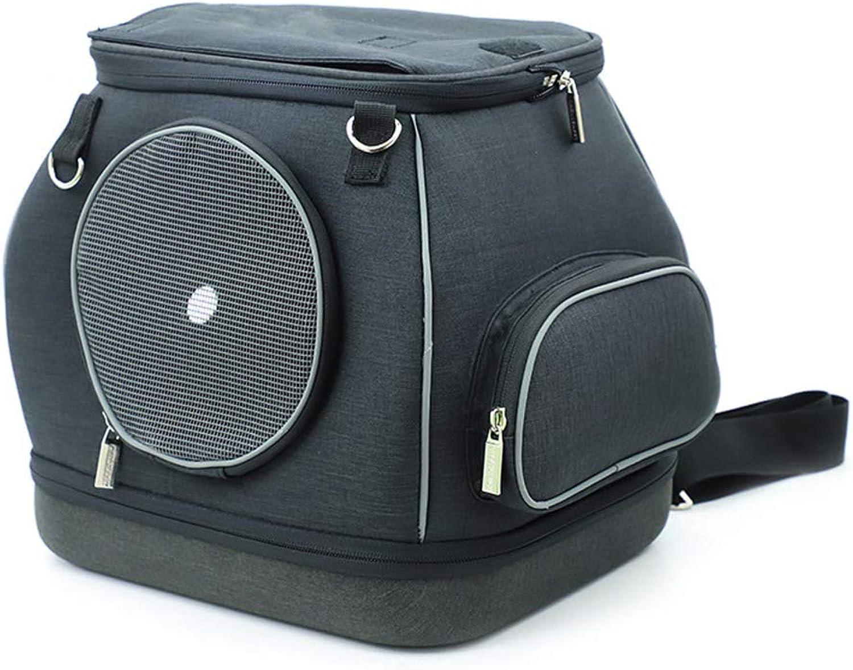 BAOTR Cat and dog Pet Carrier fashion Double Shoulder backpack Camping Hiking travel durable Breathable Pet bag Travel bag,Black