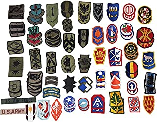 Military Outdoor Clothing 0001 Assorted US Military Patches (100 Pack) (Patches May Vary by Bag)