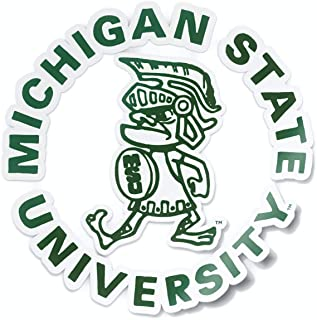 Nudge Printing Michigan State Spartans MSU Vintage College Vault Tough Sparty Car Window Decal Vinyl Bumper Sticker Laptop Sticker Made in East Lansing, Michigan USA