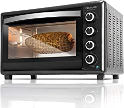 Cecotec Bake&Toast 750 Gyro - Horno Conveccion Sobremesa, 2000 W, 12 Modos, Temperatura hasta 230ºC y Tiempo hasta 60 Minutos, Incluye Accesorio Rustidor con pinzas, Capacidad 46L