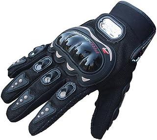 Tuopuda Motorradhandschuhe PU Leder Motorrad Handschuhe Protektoren für Moto Fahrrad Sport Outdoors1 Paar (M)
