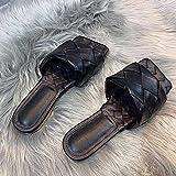 ypyrhh Zapatillas Zapatillas de playa para niños,Usa arena y tejido fuera del piso-black_35,Zapatillas de baño de casa con puntera abierta