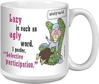 Tree-Free Greetings Extra Large 20-Ounce (591ml) Ceramic Coffee Mug, Aunty Acid Not Lazy, Multi-Colour, 10.3 x 15.24 x 10....