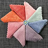 Microfiber Absorbent Thicker Scouring Pad Rag, Non-Stick Oil Dish Wash Cloth Towel Kitchen Cleaning Wiping Tools Kids Hand Towel