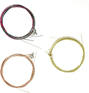 Bitray 3 Sets of 6 Guitar Strings Replacement Steel String for Acoustic Guitar Kit Instrument Accessories (1 Gold Set, 1 R...