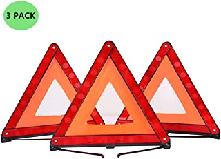 ATP Triangle Warning Frame Triangle Emergency Warning Triangle Reflector Safety Triangle Kit 3 Pack