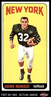 1965 Topps # 118 Cosmo Iacavazzi New York Jets (Football Card) Dean's Cards 5 - EX Jets