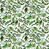 Blätter Weiß Grün 100% Baumwolle Baumwollstoff Kinder