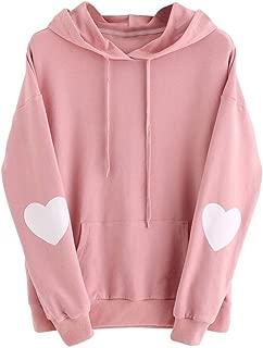 VIASA_ Fashion Sexy Womens Long Sleeve Heart Hoodie Sweatshirt Jumper Hooded Pullover Tops Blouse
