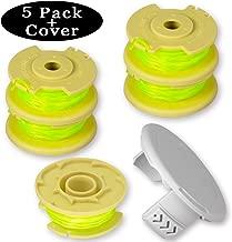 Newjinda [5 Pack+1 Cover] Line String Trimmer Replacement Spool for Ryobi One Plus+ 18V 24V 40V, 11ft 0.080
