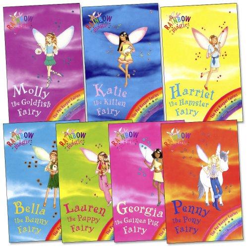 Pet Keeper Fairies Pack, 7 books, RRP £27.93 (Bella the Bunny Fairy, Georgia the Guinea Pig Fairy, Harriet the Hamster Fairy, Katie the Kitten Fairy, Lauren the Puppy Fairy, Molly the Goldfish Fairy, Penny the Pony Fairy). (Rainbow Magic)