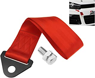 Nylon Red Racing Tow Strap Race Cars Rally Competition Towing Straps 25cm x 5cm