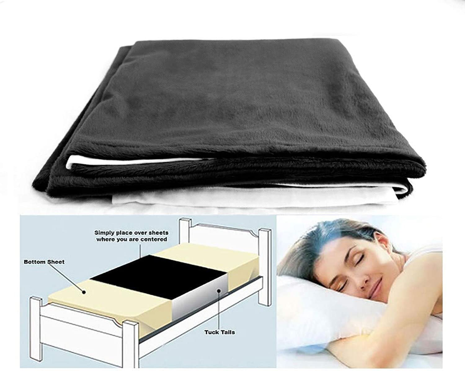 Cycleliners Period Bed Sheets Predector - Waterproof, Leakproof and Reusable Menstrual Bed Pad (Twin, Black)