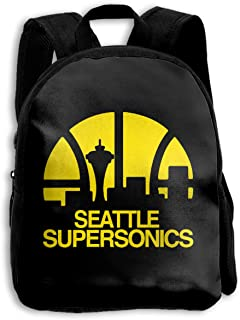 Seattle Supersonics School Backpack Travel Bag For Boys And Girls