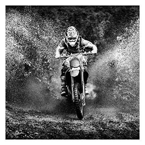Vliestapete Motocross im Schlamm, HxB: 192cm x 192cm
