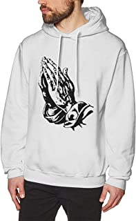 Male Classic Print with 6 Pray Hands OVO Drake Owl Design Pullover Hoodie Hooded