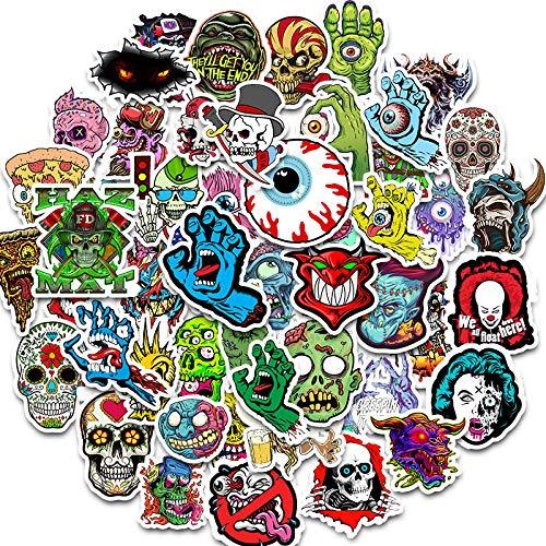 Terror Series Stickers Graffiti, skeleton, donker, graffiti, stickers voor doe-het-zelf, in koffer voor laptop, skateboard, gitaar, koeler, 50 stuks