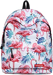TTD Unicorn & Flamingo Pattern series Kids Girls School Bag Backpack Light-weight for Hiking Travel Camping