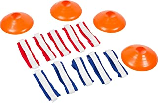 Flag Football Premium Set - For 10 Man Team - By Trademark Innovations (Red and Blue)