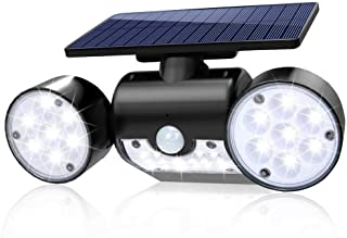 Sunenvoy Solar Light Outdoor with Motion Sensor, Solar Wall Light with Dual Head Spotlights 30 LED Waterproof 360-Degree Rotatable Solar Security Light Outdoor for Garden, for Front Door Yard Ga1 Pack