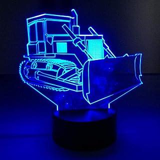 3D Luz Nocturna Lámpara De Mesa Táctil De La Niveladora 7 Colores Lámpara De Mesa De Reemplazo De Cambio De Suelo Lámpara 3D Lámpara De Noche Led Lámpara De Estrella De La Muerte Lámpara Led