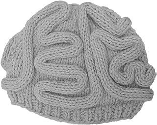 Giles Jones Unisex Handmade Knitted Brain Beanie Cap Zombie Pinky Hat Adults