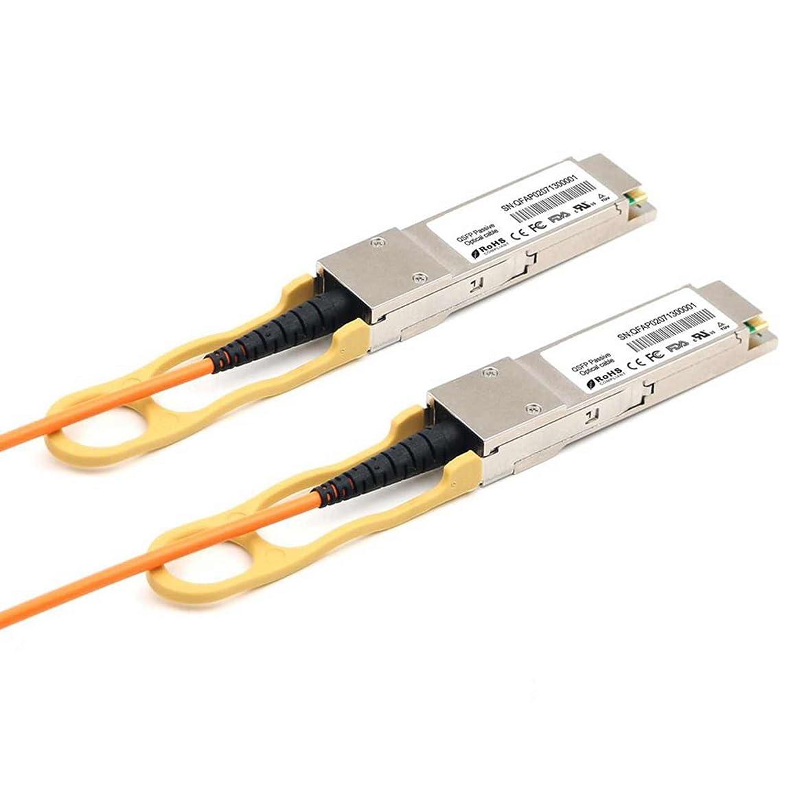 旧正月後方に尊敬するLODFIBER 40G-QSFP-QSFP-AOC-5001 Brocade対応互換 50M 40GBASE QSFP+ AOCアクティブ光ファイバケーブル
