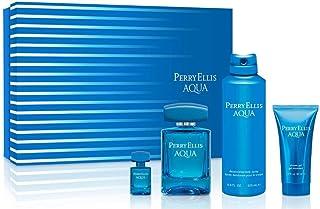 Perry Ellis Fragrances Aqua 4 Piece Gift Set 100ml