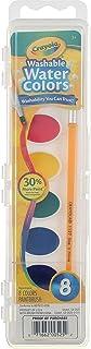 رنگ های آبرنگ قابل شستشوی Crayola ، 8 رنگ اصلی (بسته 4)