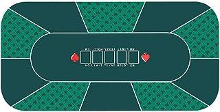 10 Player Poker Mat, Portable Rubber Non-Slip Poker Table Top w/Carrying Bag for Poker Games, Blackjack, Casino