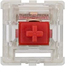 Gateron KS-9 RGB Mechanical MX Type Key Switch - Clear top (90 Pcs, Red)