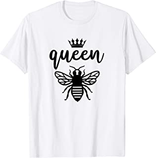 Queen Bee Quote Crown Graphic Mama B Honey Lover Cute Diva T-Shirt