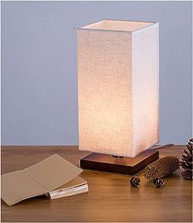 ベッドサイドランプ 和風スタンド テーブルライト 卓上スタンド LED電球付き インテリアライト 間接照明 常夜灯(白色)