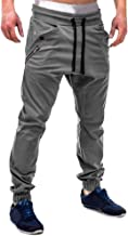 Benficial Fashion Men's Athletic Patchwork Running Sport Jogger Pants with Zipper Pockets