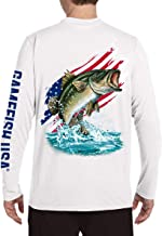 GAMEFISH USA American Flag Bass Fishing Shirts for Men Long Sleeve Performance UPF 50+ Sun Protection