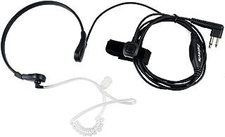 Retevis 2 Way Radio Earpiece 2 Pin Throat Mic Finger PTT Acoustic Tube Headset for Motorola CP200 CLS1110 CLS1410 CT450 GP2000 Walkie Talkies(1 Pack)