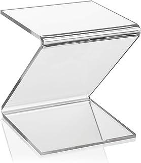PLEXIGLAS® Support de rangement en Z pour vases/figurines dans vitrine/vitrine/vitrine/exposition (10 x 10 x 10 cm)