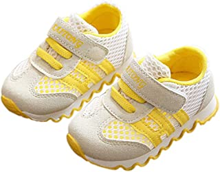 DEBAIJIA Scarpe per Bambini 0-3T Baby Walking Sneakers Tinta Unita Mesh Antiscivolo Eva Materiale Leggero Traspirante Raga...