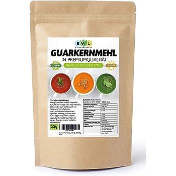 Guarkernmehl Verdickungsmittel Bindemittel E 412 3.500 cps low Carb Guar Gum Geprüfte Qualität 200g