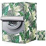 Mr. You Coprilavatrice per Esterni per Le lavatrici con Aperture Anteriori Impermeabile Anti-Spruzzi e Anti Sunlight Lavatrice Copertura(Green Field,60×53×85cm)