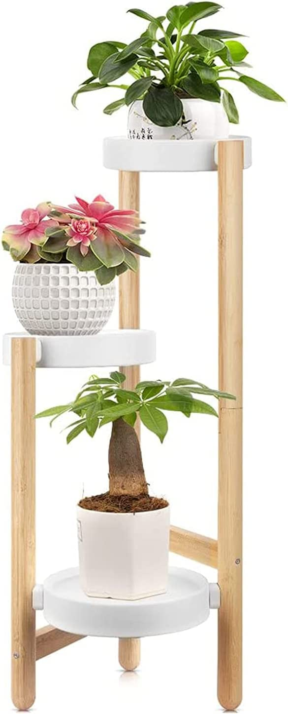 Bamboo Super special price Plant Stand BAIDALL 3 Display TierTall Rack with Tr Max 88% OFF